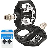 TacoBey MTB Bike Pedals Dual Platform Compatible with Shimano SPD Mountain Clipless Pedals, 3-Sealed Bearing Lightweight…