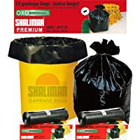 Shalimar Premium OXO - Biodegradable Garbage Bags (Extra Large) Size 76 cm x 94 cm (15 Bags) (Black Colour)