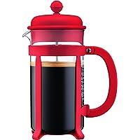 Bodum Java Kaffeebereiter 8 Tassen, Glas, Rot, cm, 10.6 x 17.1 x 24.5 cm, 1 Einheiten
