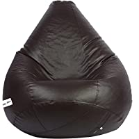 Skyshot Classic Teardrop Shape Bean Bag Filled with Beans/Fillers (XL, Brown)