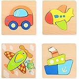 FORMIZON Puzzle di Legno, Giochi Bambini Montessori Educativo Giocattoli Giochi Set Regalo per 1 2 3 Anni Ragazze e Ragazzi p