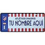 Champion's City Atlético de Madrid - Matrícula Personalizable con Nombre - 6 x 14 Centímetros