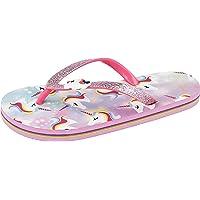 Girls Unicorn Toe Post Foam Flip Flops
