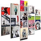 Giallobus - 5 Multipaneel Art Board - Banksy - Banksy Collage - PVC paneel - 140x100