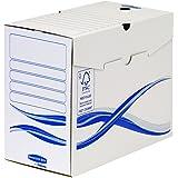 Fellowes Bankers Box Basic Lot de 25 Boîtes d'archives A4 15 cm Bleu/Blanc
