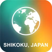 Shikoku, au Japon Carte