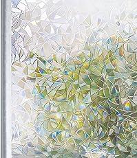 Homein Fenster Folien Klebefolie Fensterfolie Für Sichtschutz Tattoo Blickdicht Vintage Haftend Ohne Kleber Glas Tür Möbe Mosaik Muster