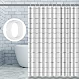 Cortina de Ducha,Cortina de baño Impermeable Resistente al Moho con 12 PCS Ganchos para Cortinas,Cortinas de Ducha de Tela Es