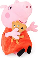 Peppa Pig with Bear Plush, Multi Color (30cm)
