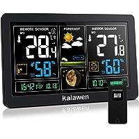 Kalawen Stazione Meteo Automatica Digitale Wireless Meteorologica con Ampio Schermo LCD Display Sveglia Tempo Data…
