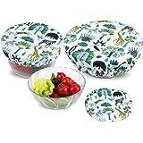 PHOGARY 3 Couvercles de Bol Réutilisables, Couvercles en Tissu Imperméables pour Le Bol à Salade en Verre, Le Pot, Les Melons