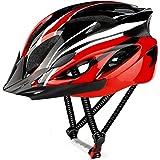 RaMokey Fietshelm voor volwassenen en heren, EPS-body + PC-schaal, MTB-mountainbike-helm met afneembaar vizier en bekleding,