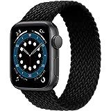 JONWIN Solo Loop Intrecciato Compatibile con Cinturino Apple Watch 38 40 42 44mm,di Ricambio Sportivo in Fibra di Silicone In