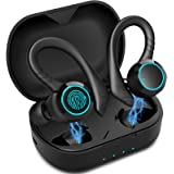 Aoslen Bluetooth hoofdtelefoon, draadloos, sport in ear 5.0, Bluetooth-headset, 36 uur looptijd met geïntegreerde microfoon,