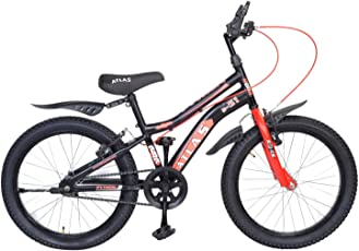 Atlas Python 20 inches Single Speed Bike for Kids of 7-9 Yrs Black & Red