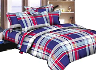 Duze Home Décor Luxury Glace Cotton, Elastic Fitted, Wrinkle Free Double Bed