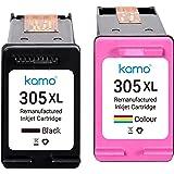 Kamo 305 XL Cartouche Compatible avec HP 305 305XL Cartouche d'Encre Multipack, pour Deskjet 2721 2710 2710e 2720 2722e 2721e