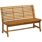 Dehner Gartenbank Paisley, 3-Sitzer, ca. 138 x 63 x 95 cm, FSC Akazienholz, geölt, Natur