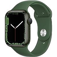 Apple Watch Series 7 (GPS) Boîtier en Aluminium Vert de 45 mm, Bracelet Sport trèfle - Regular