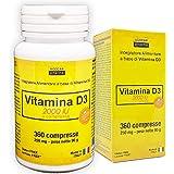 VITAMINA D3 ad alto dosaggio | vitamina d 2000 UI a compressa | 360 COMPRESSE, Fornitura 1 anno | VITAMINA D | FATTO IN ITALI