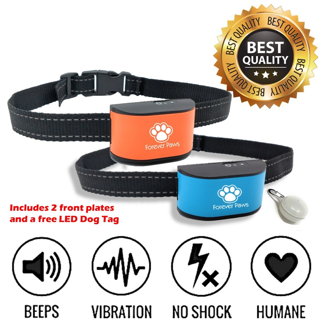 Forever Paws Ltd Anti Bark Dog Training Collar