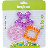 Baybee Baby Water Filled Teether (Pink, Violet and Orange)