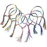 SODIAL(R) 9pcs Pulsera Brazalete Multicolor Pulsera Hilo Trenzado para Amistades
