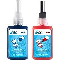 AGT Schraubensicherung: Schrauben- und Muttersicherungsmittel, mittel- und hochfest, 100 ml (Schraubenkleber)