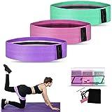 Weerstandsbanden [set van 3], Weerstand heupbanden set met 3 weerstandsniveaus voor heupen en bilspieren, Workout Booty Bands