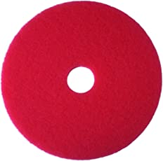 3M 5100 Red Buffer Floor Pad, 17 inch (Packs of 5)