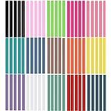 Ewparts 75 pc Pack farbige Kunst Handwerk Heißleim Pistole Kleber Sticky Sticks, 7mm * 100mm (Colored-75pcs)