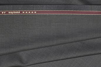 Raymond Men's Unstitched Poly Viscose Trouser Fabric Grey and Blue_1.3m