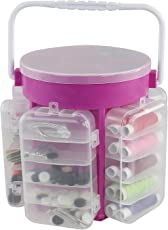 Supreme Mall Plastic 210 Pcs Professional Sewing Kit, Portable Organizer Storage Basket for Travel (SM453)