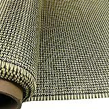 """3K 200g fibra di carbonio mescolare tessuto aramidico giallo 2x2 Twill I Tessuto di forma 40 """"x 40"""""""