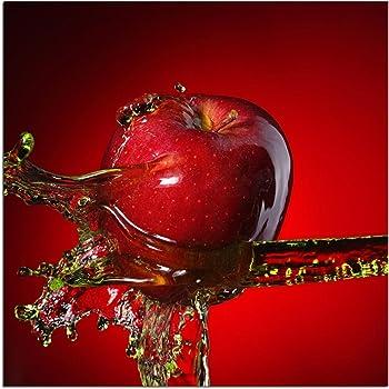 levandeo Glasbild 30 x 30 cm Wandbild Glas Chili Schote Peperoni ...
