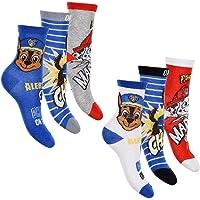 Paw Patrol, confezione da 6 calzini per ragazzi, diversi modelli e motivi