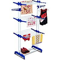 Parasnath Prime 2 Pole Gold Six Layer Clothes Rack Hanger with with Breaking Wheel System for Drying Clothes (Made in India) Limited Time Offer