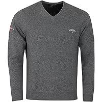 Callaway Golf Mens 2021 Odyssey Long Sleeve V-Neck 12 Gauge Embroidered Sweater