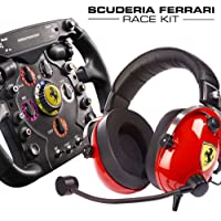 Thrustmaster Scuderia Ferrari Race Kit - Volante F1 + Cuffie Gaming Scuderia Ferrari F1 - PS4 / Xbox One / PC…