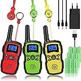 Wishouse M8 Walkie Talkie Niños 3X3000mAh Bateria Recargable USB, Adultos Walky Talky 3 Piezas Largo Alcance,Cámping Juegos P