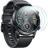 CAVN Screen Protector Compatibel met Honor Magic Watch 2 (46mm), 4pcs Tempered Glass Screen Protection Cover Saver voor Magic
