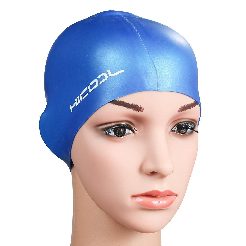 Bonnet de bain, Hicool série haute qualité Pureté oreille étanche Manchons  Bonnet de bain silicone pour hommes et femmes (Bleu) Amazon.fr Sports et