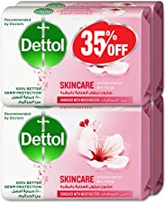 Dettol Skin Care Anti-bacterial Bar Soap 165gm Pack of 4 @35% OFF