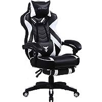 Zeanus Chaise Gaming pour Adultes, Chaise de Jeu avec Repose-Pieds, Fauteuil Gamer avec Massage, Inclinable Chaise…