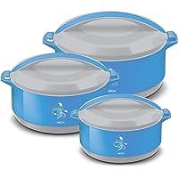 MILTON Divine Jr Inner Steel Casserole Gift Set of 3, Blue