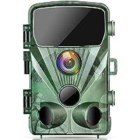 TOGUARD Caméra de Chasse 1080P 20MP Caméra de Faune, Caméra de Surveillance Étanche avec Vision Nocturne Infrarouge…