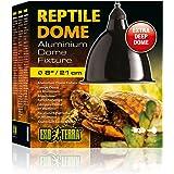 Exoterra Dome Fixture Eclairage en aluminium pour Reptile/Amphibien Taille Large