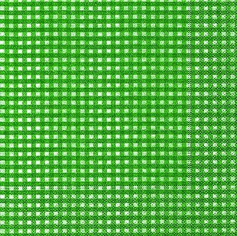 40 Cocktail Servietten Vichy waldgrün (Vichy forest green)1/4 gefalzt, 3-lagig