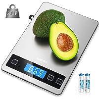 Balance de Cuisine Electronique, HOMEVER Balance Alimentaire Numérique de Précision 1g en Acier Inoxydable, Capacité…