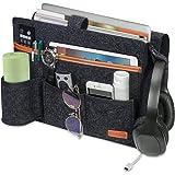 SIMBOOM Organizer łóżka, torba filcowa, do przechowywania książek, czasopism, uchwyt na butelki, do salonu, mieszkania, sofy,